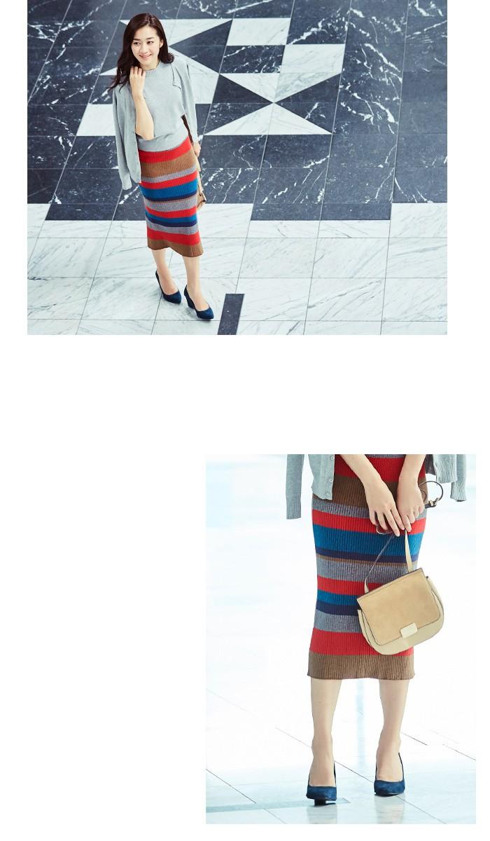 マルチボーダーIラインスカート3