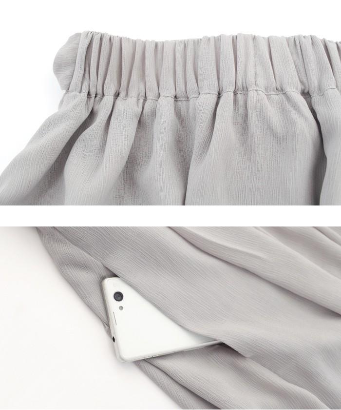 ウエストリボンタックロングスカート15