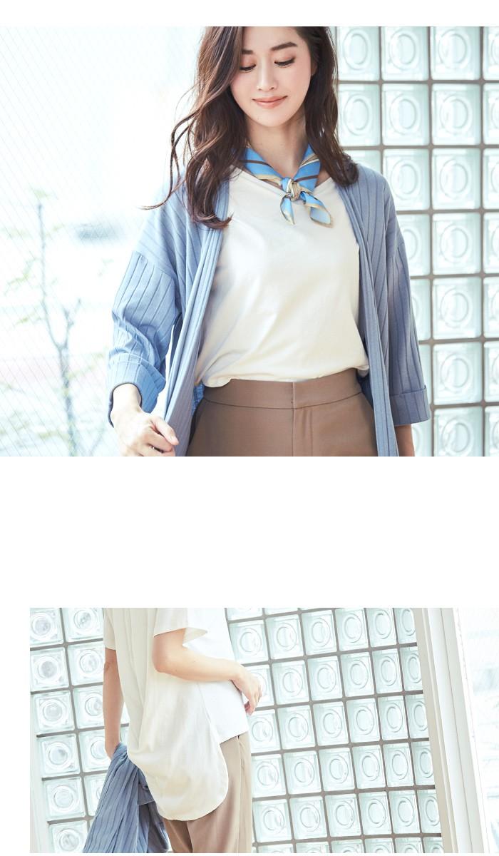 スカーフ付ドレープヘムTシャツ4
