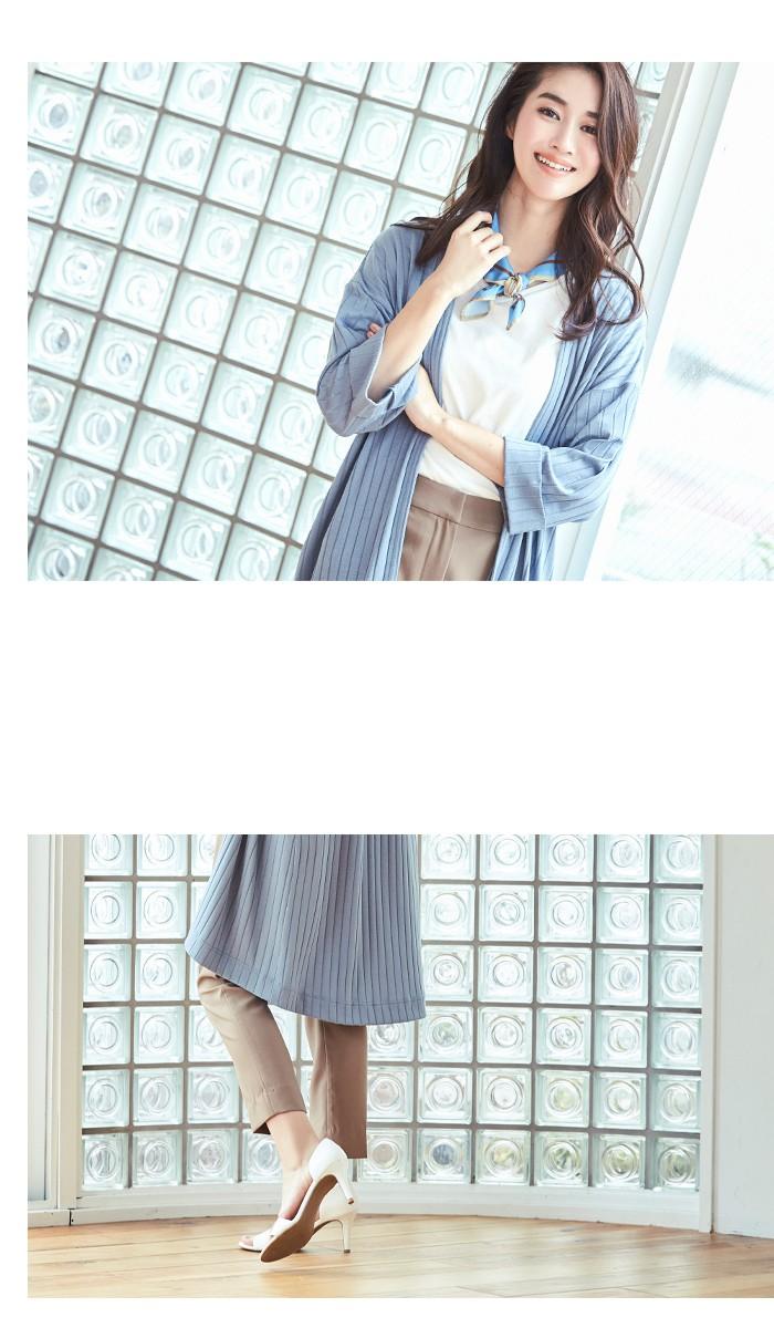 スカーフ付ドレープヘムTシャツ7