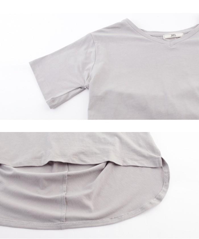 スカーフ付ドレープヘムTシャツ15