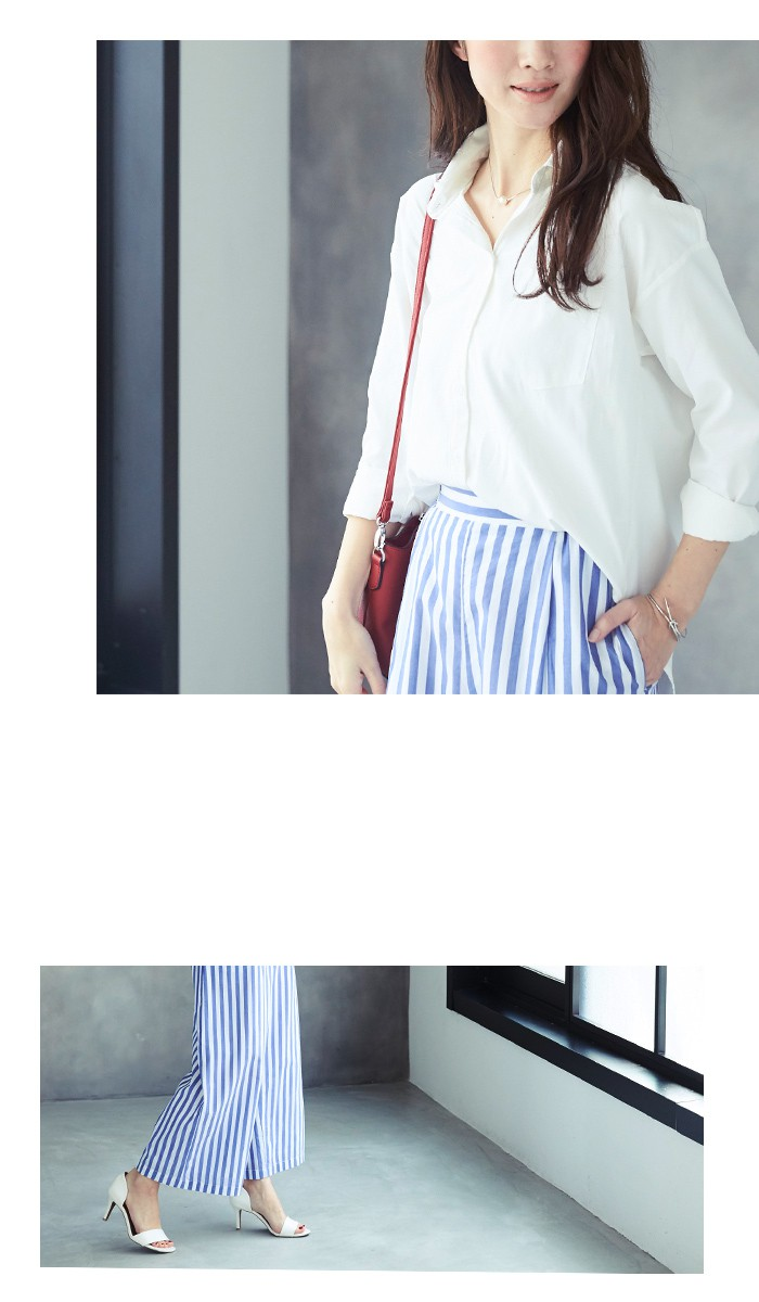 無地&ストライプシャツ7