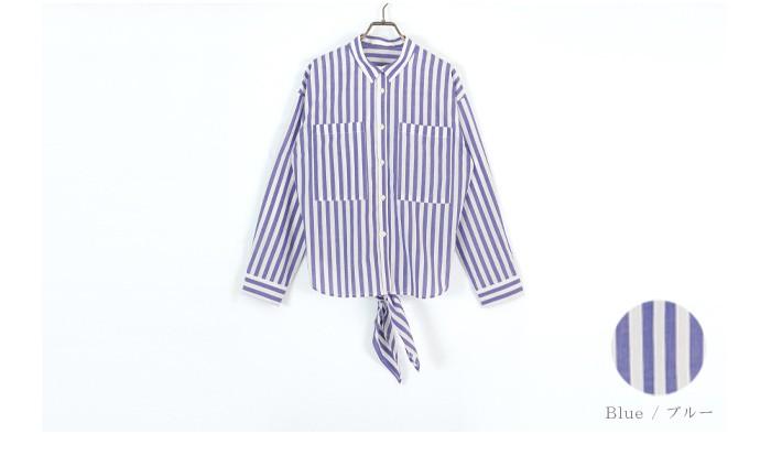 ストライプバックリボンシャツ13