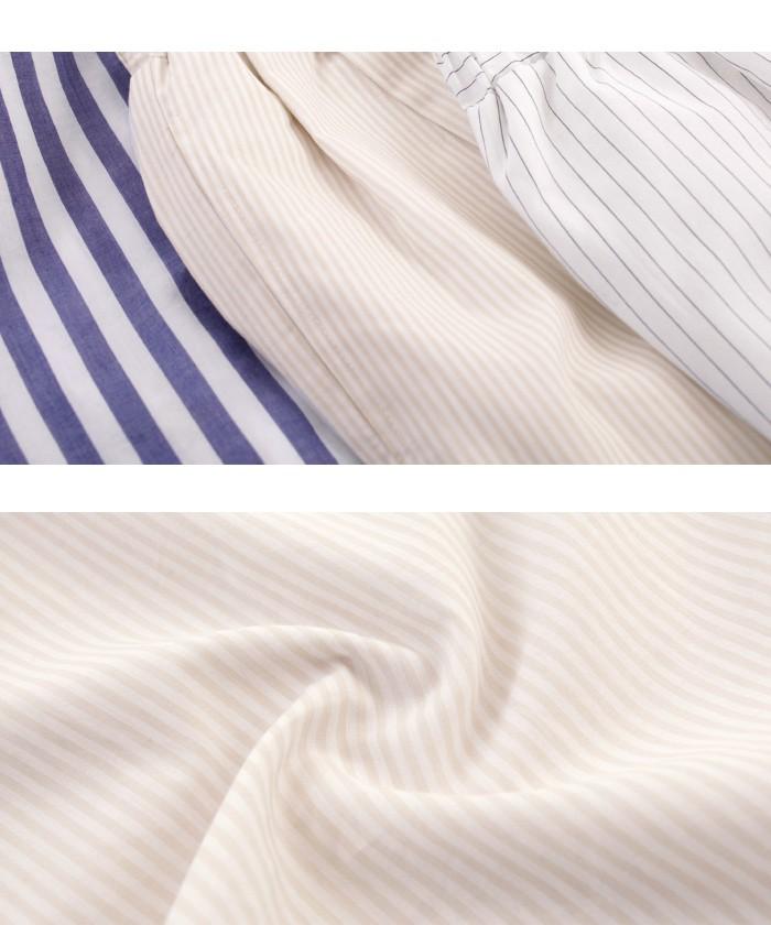 ストライプバックリボンシャツ16