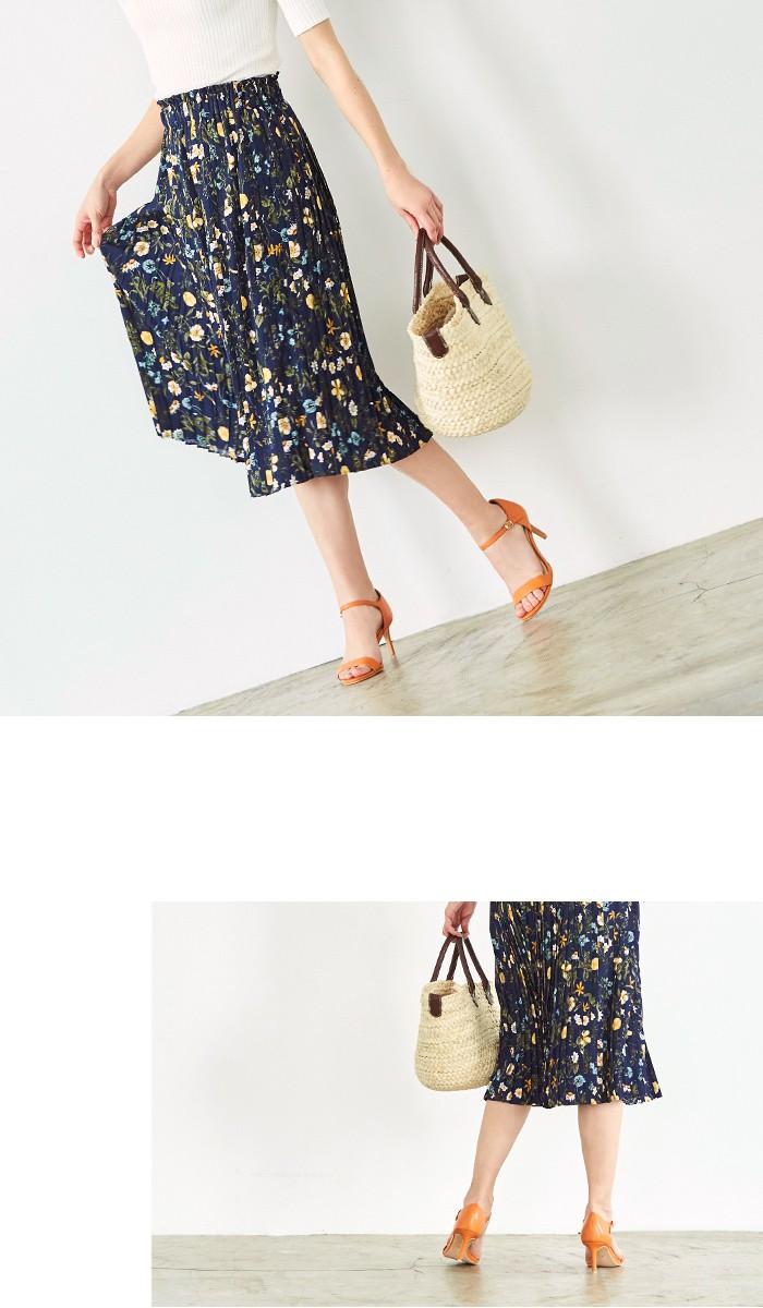 花柄プリーツスカート7