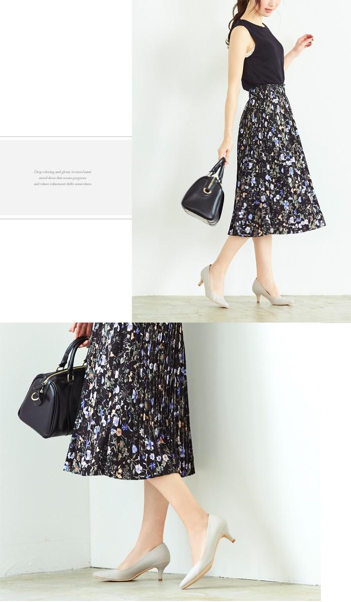 花柄プリーツスカート8