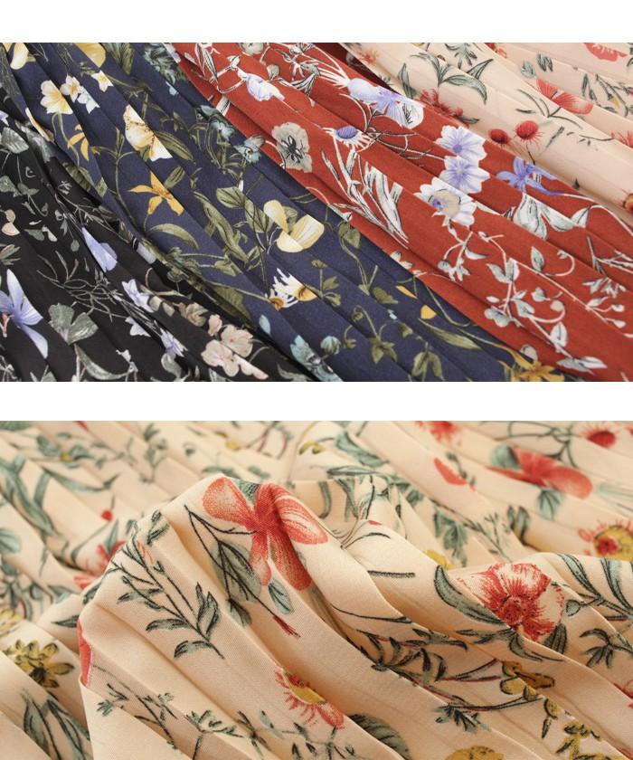 花柄プリーツスカート16