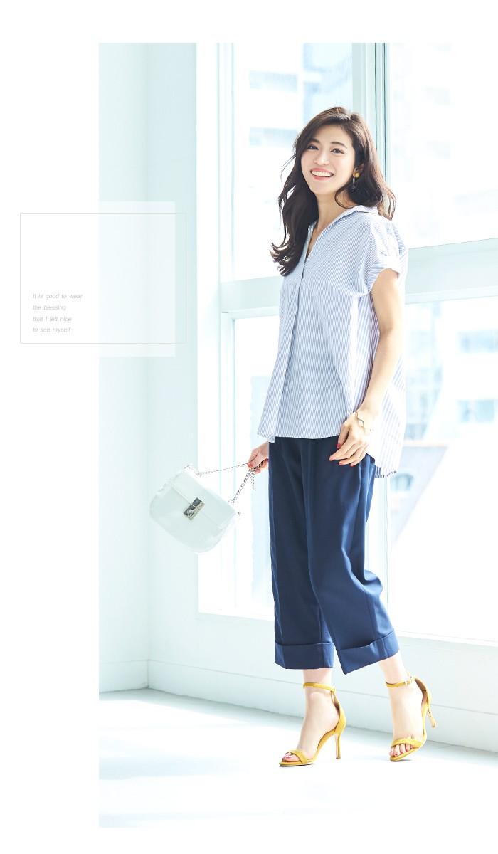 バックデザインストライプシャツ9