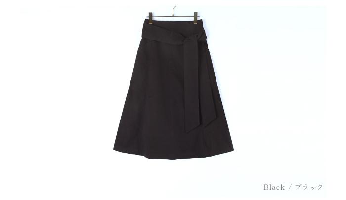 ウエストリボン台形スカート13