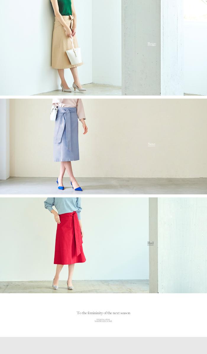 ウエストリボン台形スカート11