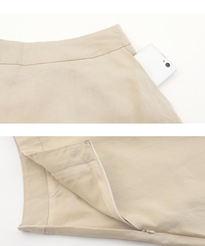 リネントップス×スカートセットアップ16