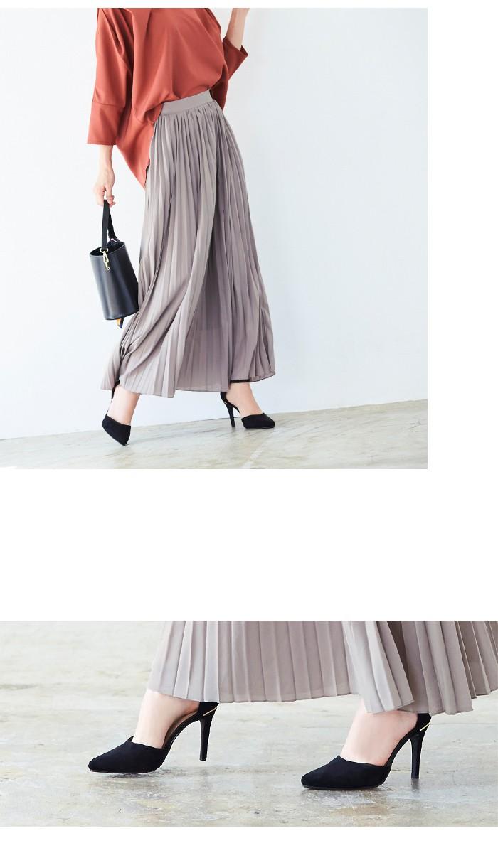 プリーツロングスカート8