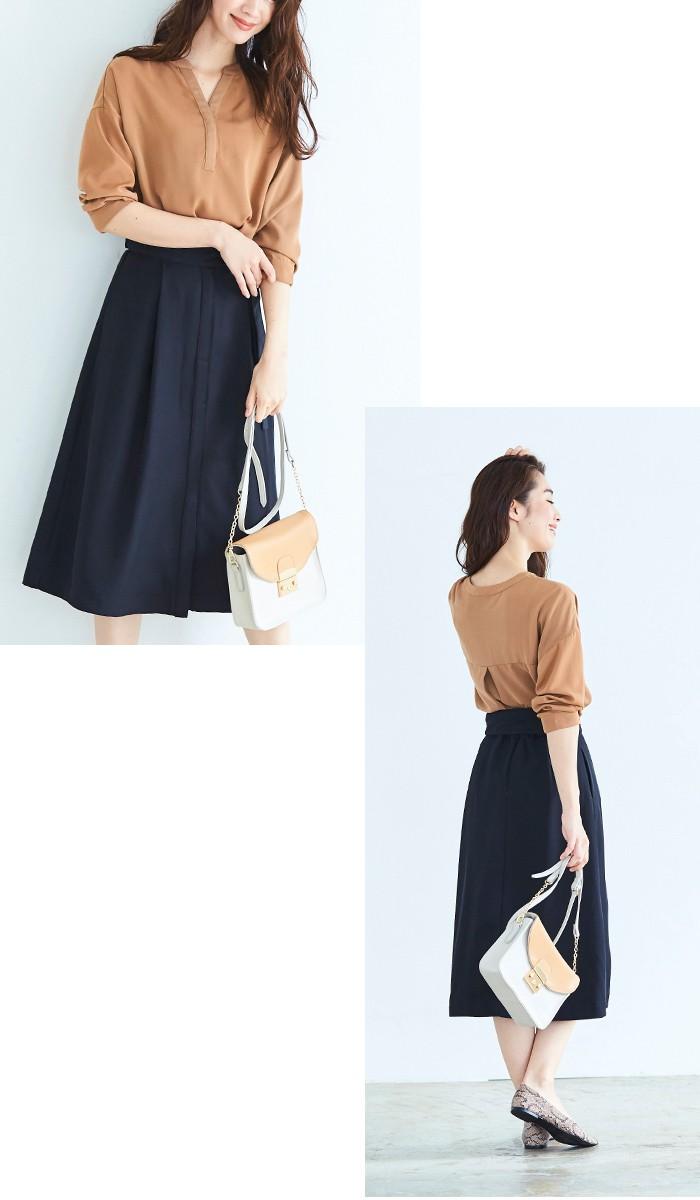 ウエストリボンAラインスカート9