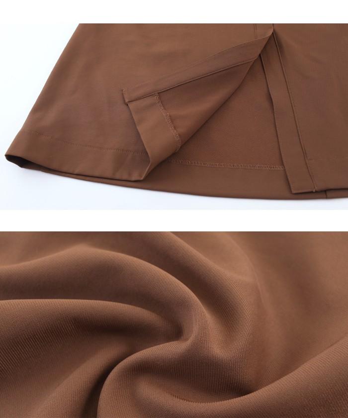 ウエストリボンAラインスカート16