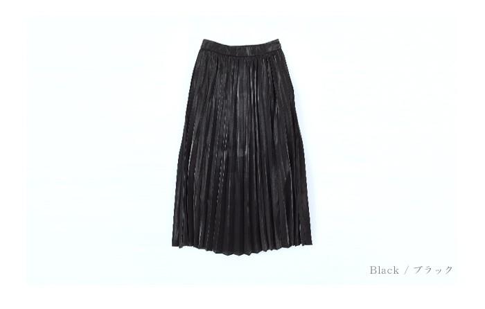 フィラメントサテンミディアムプリーツスカート13
