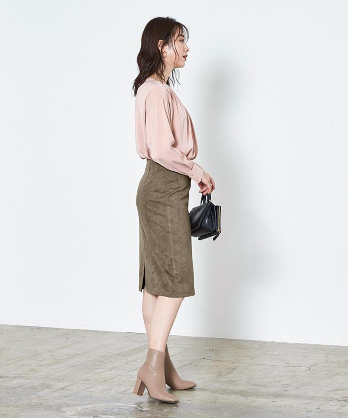 フェイクスウェードタイトスカート7