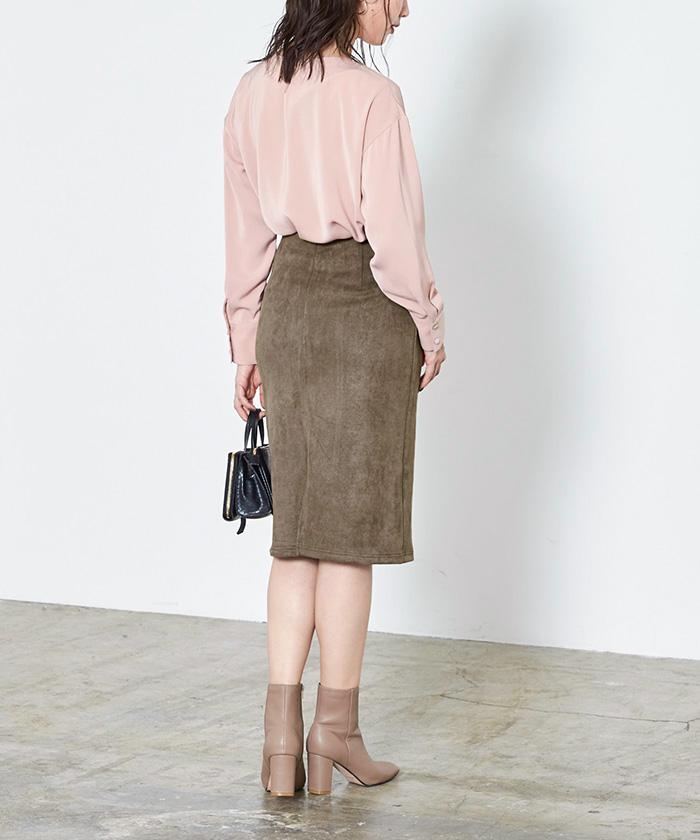フェイクスウェードタイトスカート8
