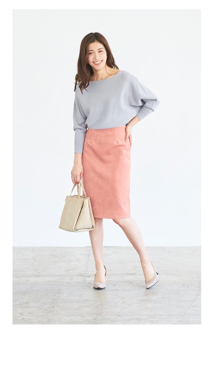 フェイクスウェードタイトスカート11