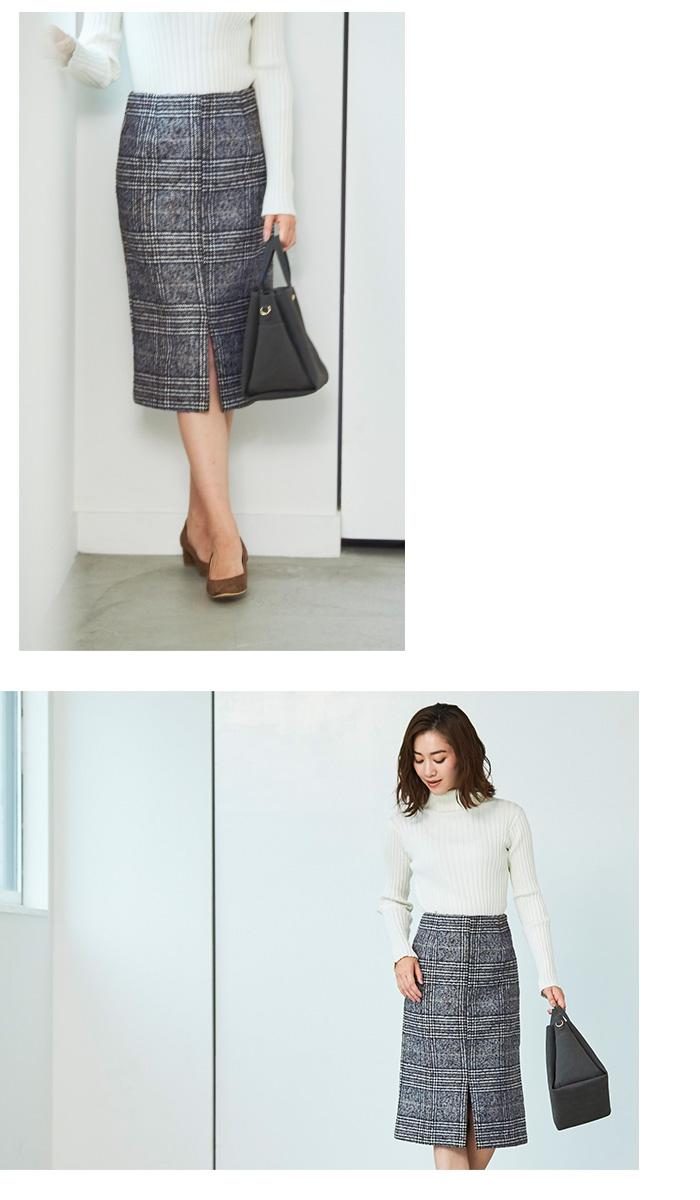 フロントスリットパターンタイトスカート3