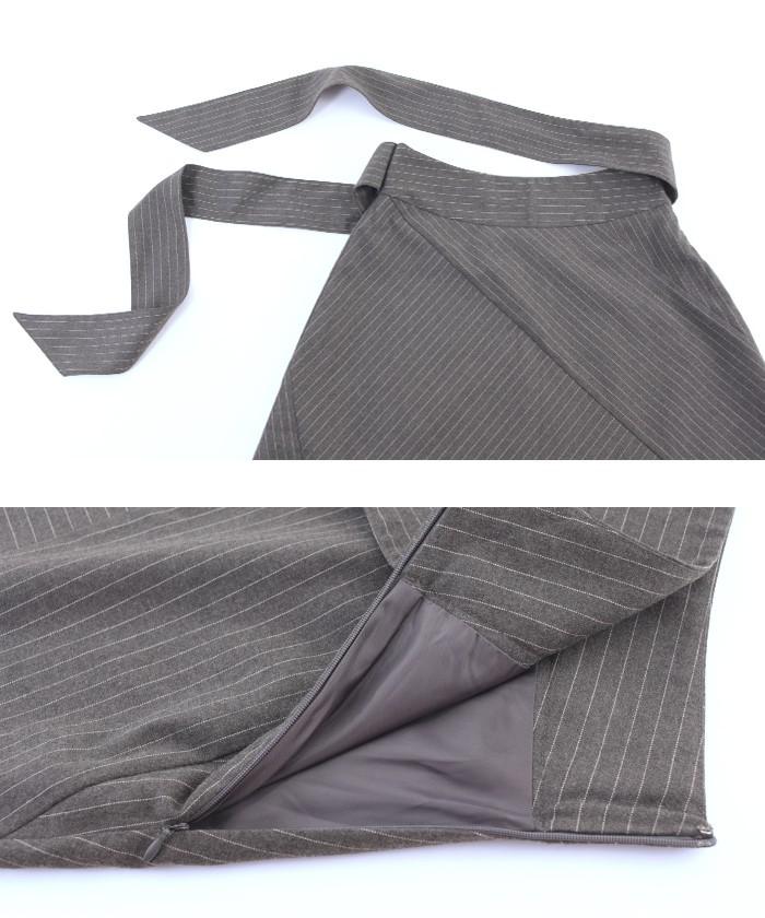 ピンストライプ切替スカート15