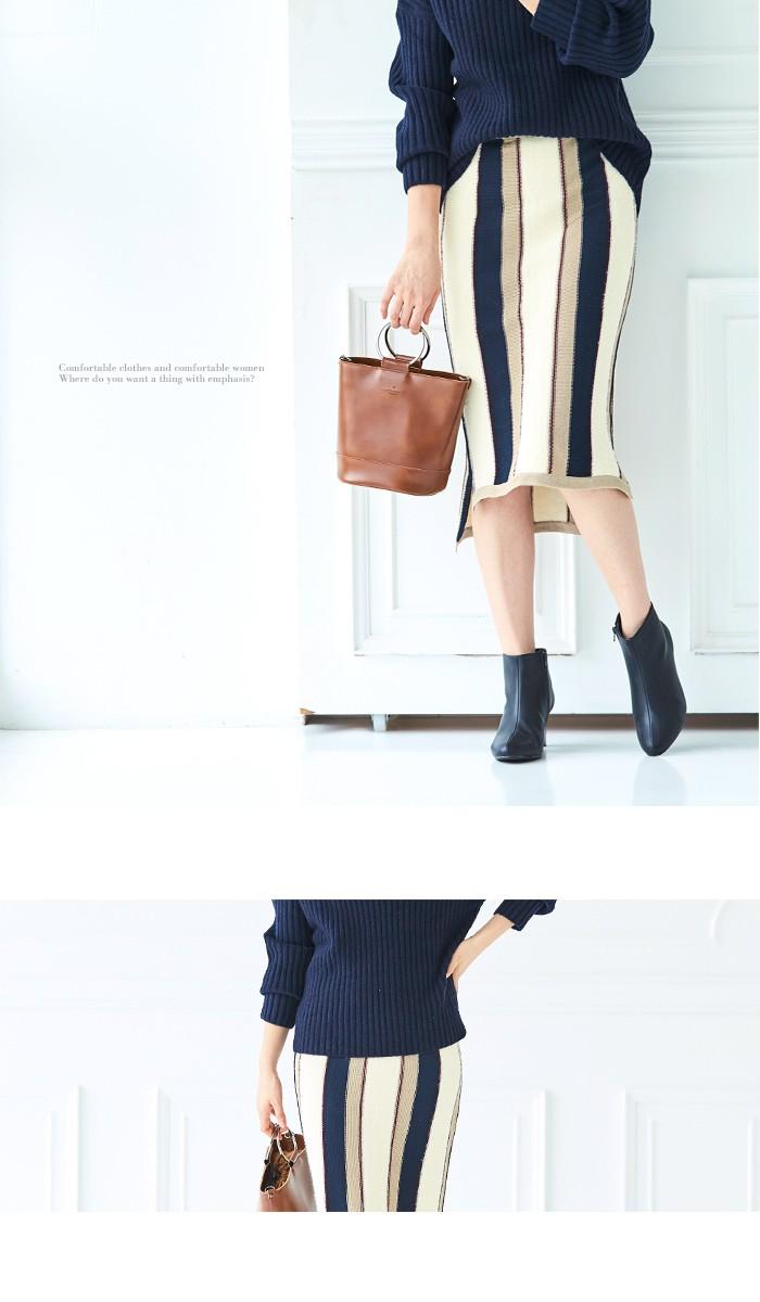 マルチストライプタイトスカート7