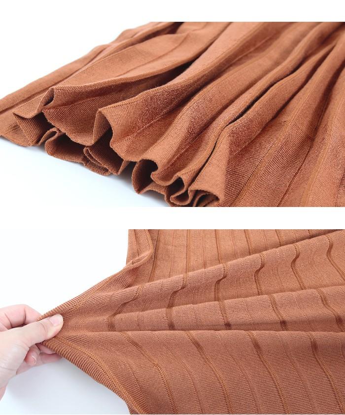 プリーツニットスカート15