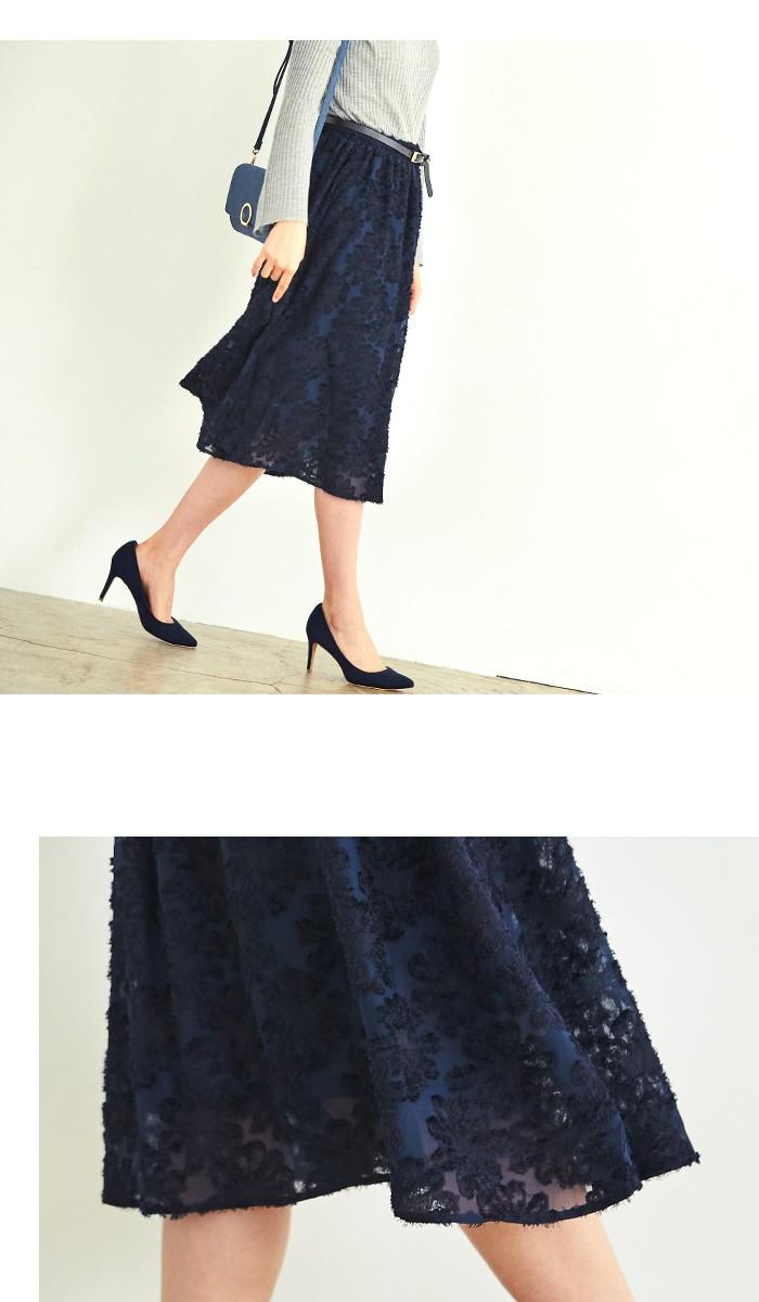花柄ジャガードスカート4