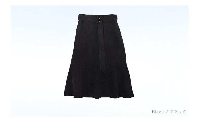 ベルト付裾フレアコーデュロイスカート13