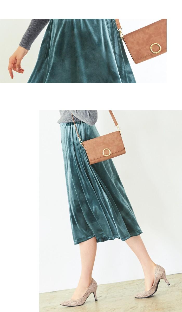 ベロアギャザースカート4