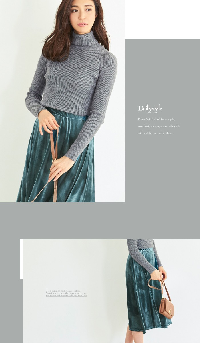 ベロアギャザースカート5