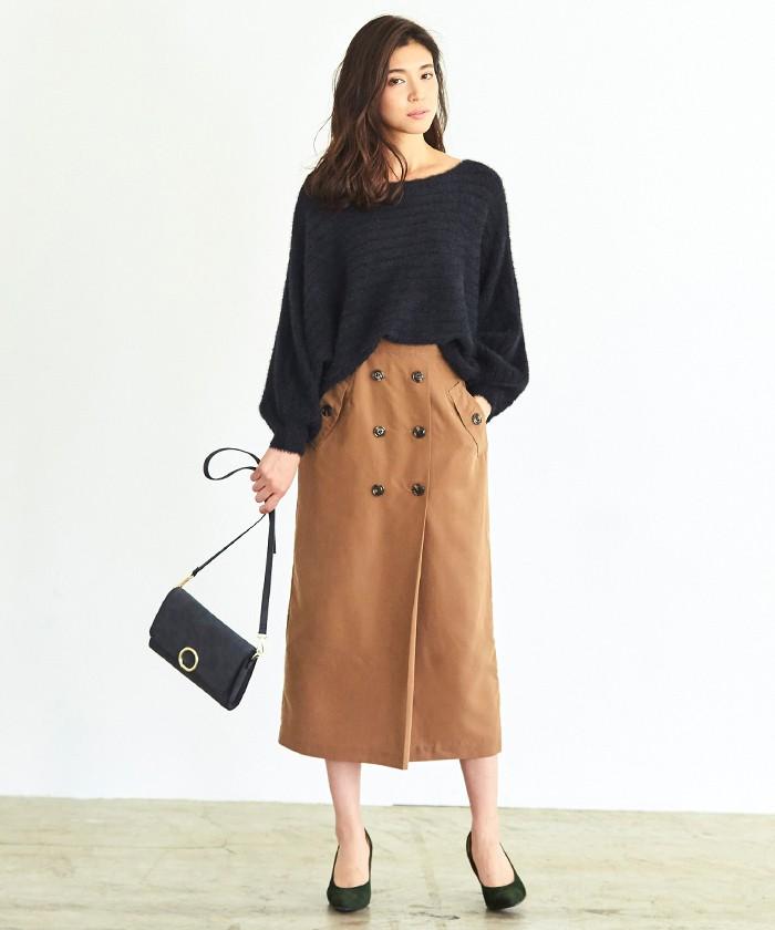 トレンチ風タイトスカート1