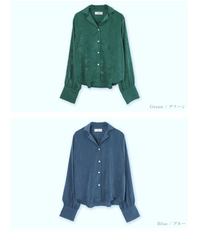 サテンライクシャツ13