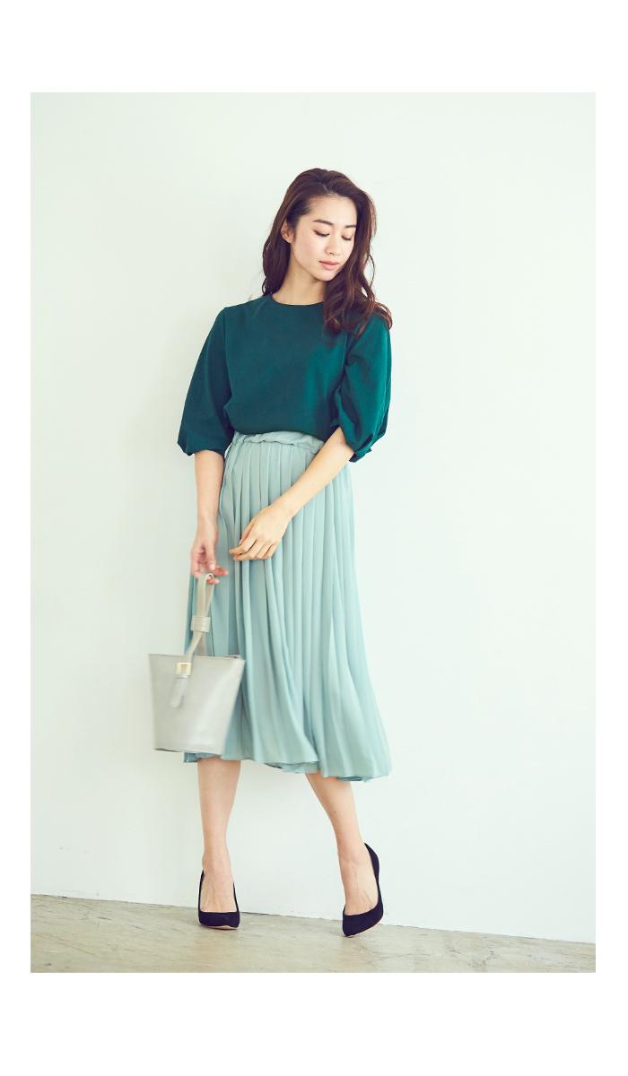 カラープリーツスカート3