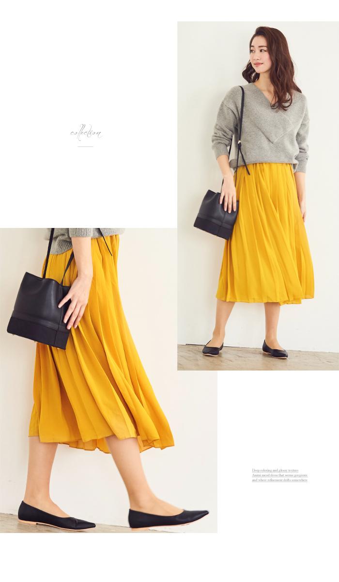 カラープリーツスカート6