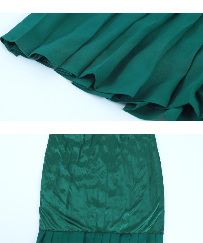 カラープリーツスカート15