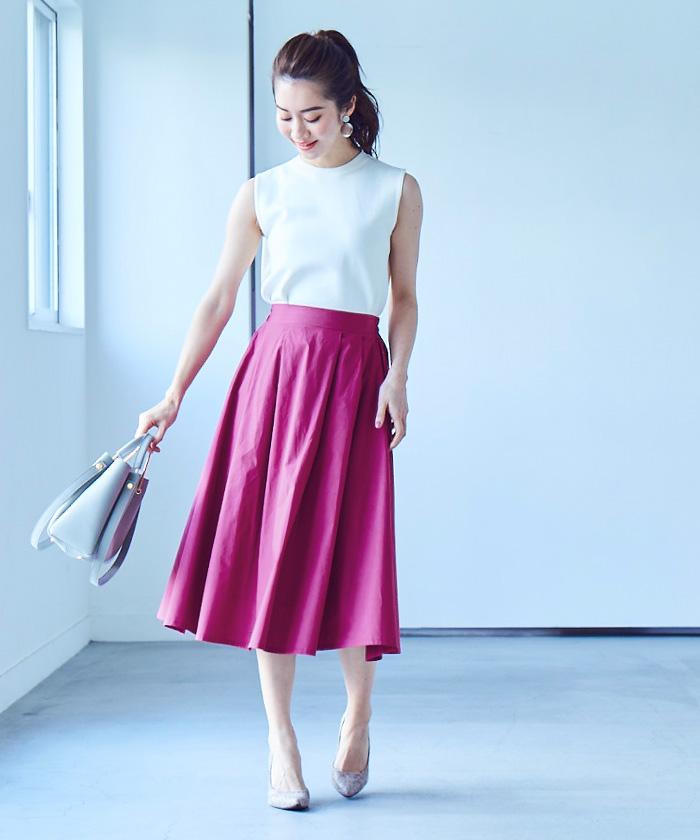 ボリュームロングスカート1