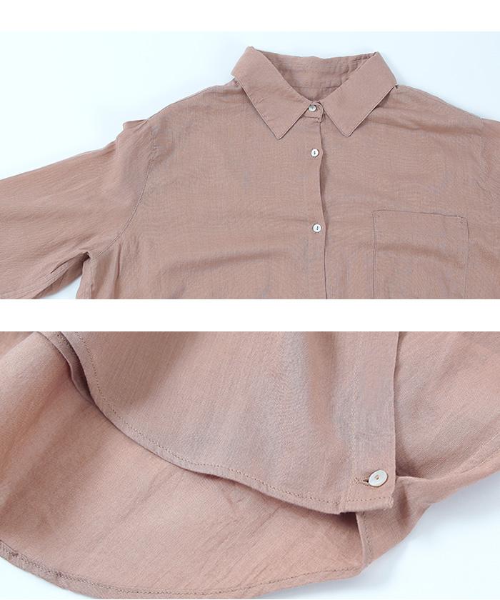2wayコットンカシュクールシャツ15