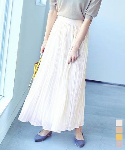 ワッシャープリーツマキシスカート