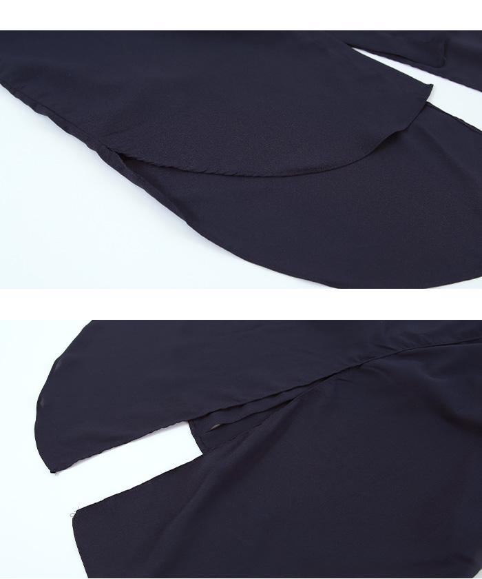 バックスリットロングシャツ15