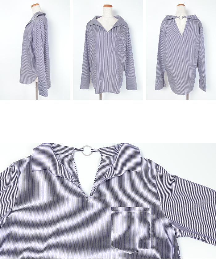 バックリングストライプシャツ14