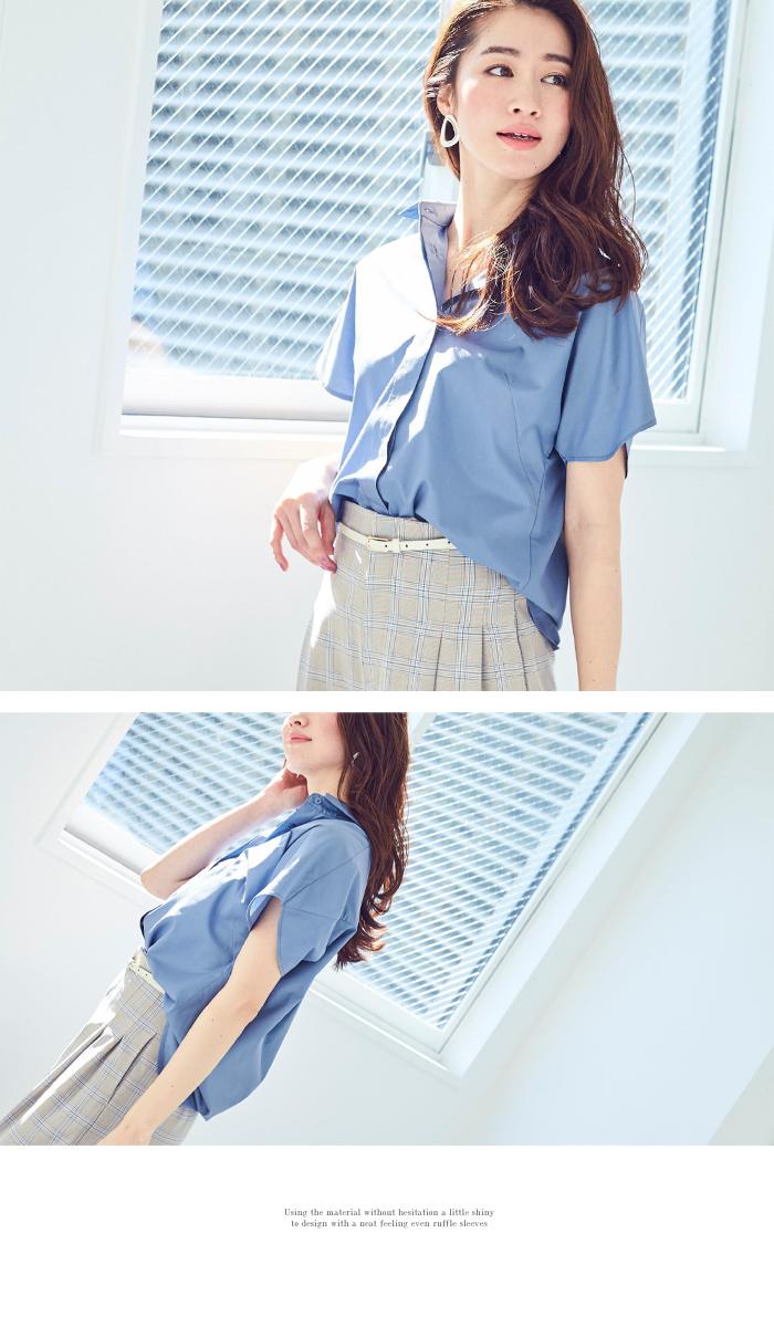 フレアスリーブシャツ2