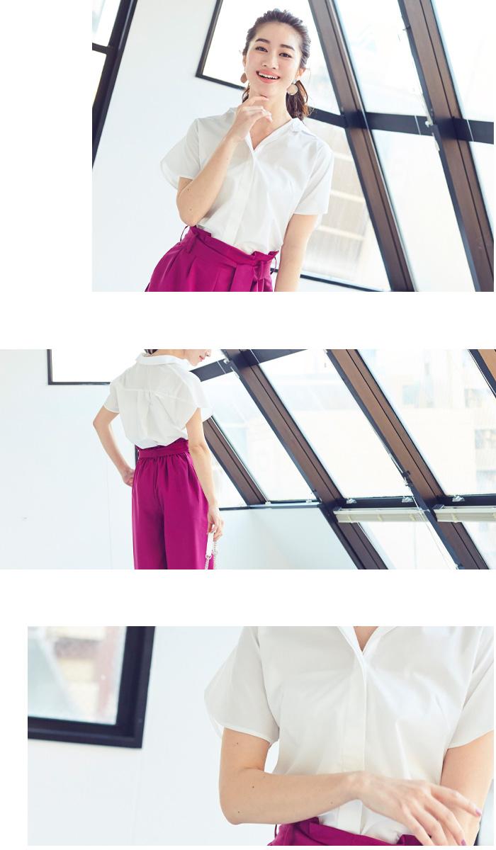 フレアスリーブシャツ11