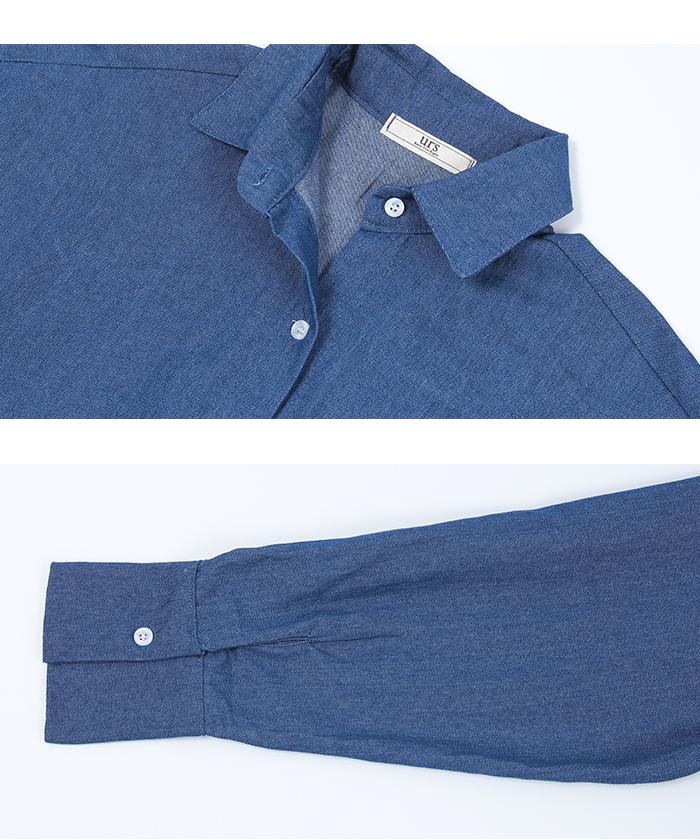 デニムロングシャツ15