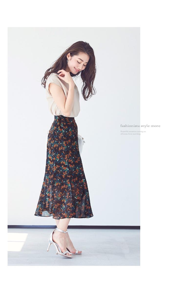 小花柄マーメイドスカート3
