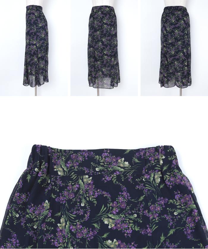 小花柄マーメイドスカート14