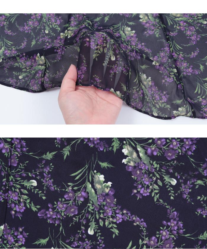 小花柄マーメイドスカート16