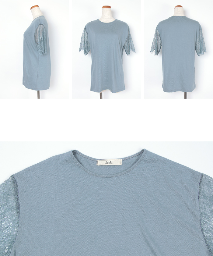 レーススリーブTシャツ14