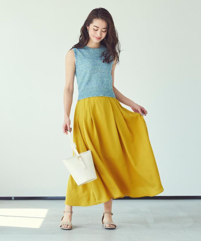 リラックスロングスカート1