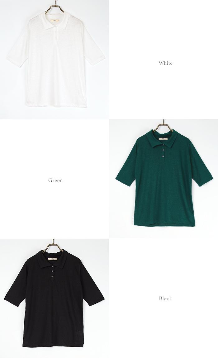 リネンポロシャツ13