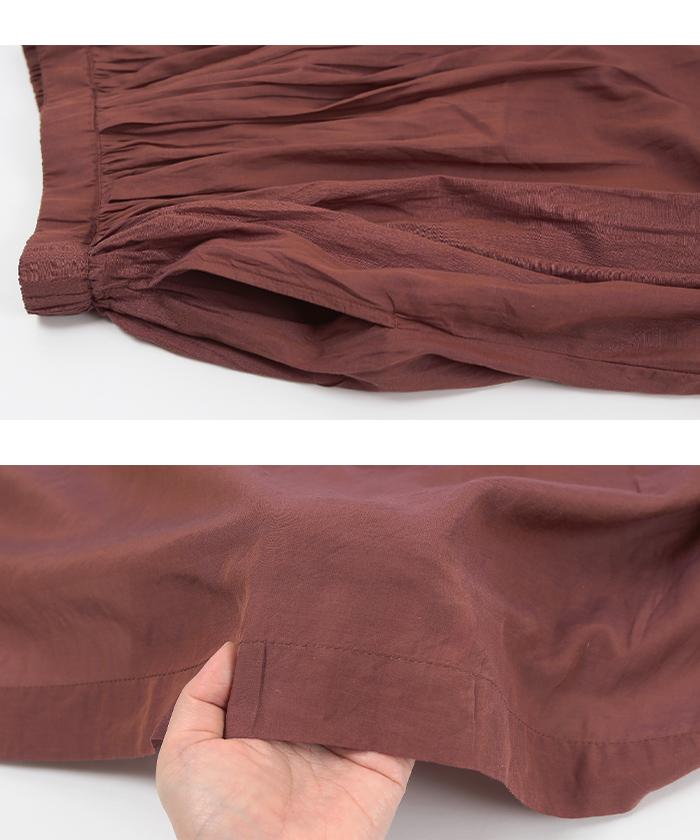 ボイルギャザーロングスカート15